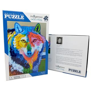 1,000 Piece Native Design Big Wolf Puzzle