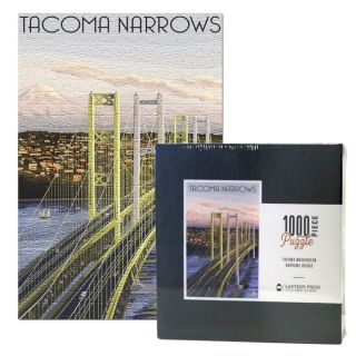 1,000 Piece Tacoma Narrows Bridge Puzzle