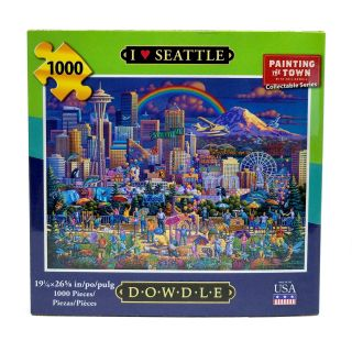 1000 Piece Dowdle Folk Art Seattle Puzzle