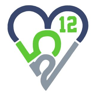 253 Heart Sticker - 12th Man (Large)