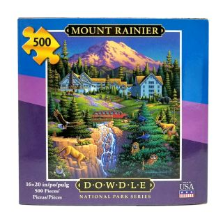 500 Piece Dowdle Folk Art Mount Rainier Puzzle