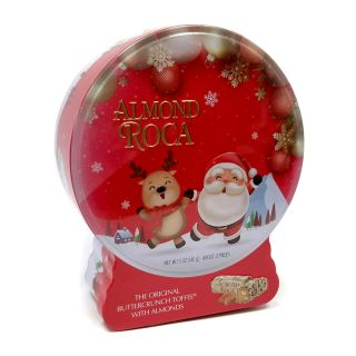 Almond Roca Holiday Snow Globe Gift Tin - 5 oz