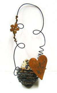 Birdseed Nest - Heart Design -