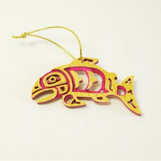 Carved Colorwood - Salmon - 3