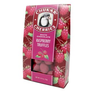 Chukar Cherries - White Chocolate Raspberry Truffles - 2.75