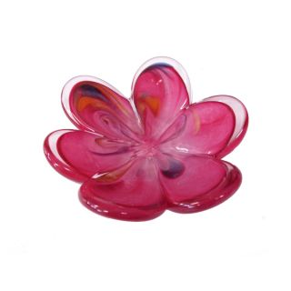 Glass Eye Studio - Affection Dish - Pink Flower - aprox 5
