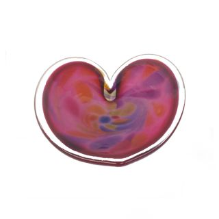 Glass Eye Studio - Affection Dish - Pink Heart - approx 5