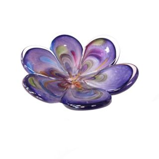 Glass Eye Studio - Affection Dish - Purple Flower - approx 5