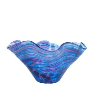 Glass Eye Studio - Mini Wave Bowl - Violet Twist - 6