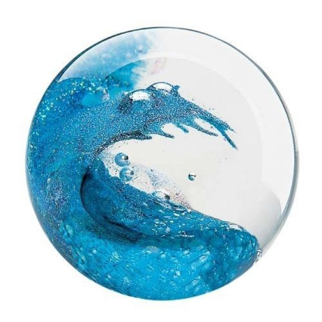 glass eye studio paperweight cresting wave 3 diameter pacific northwest shop - Glass Eye Studio