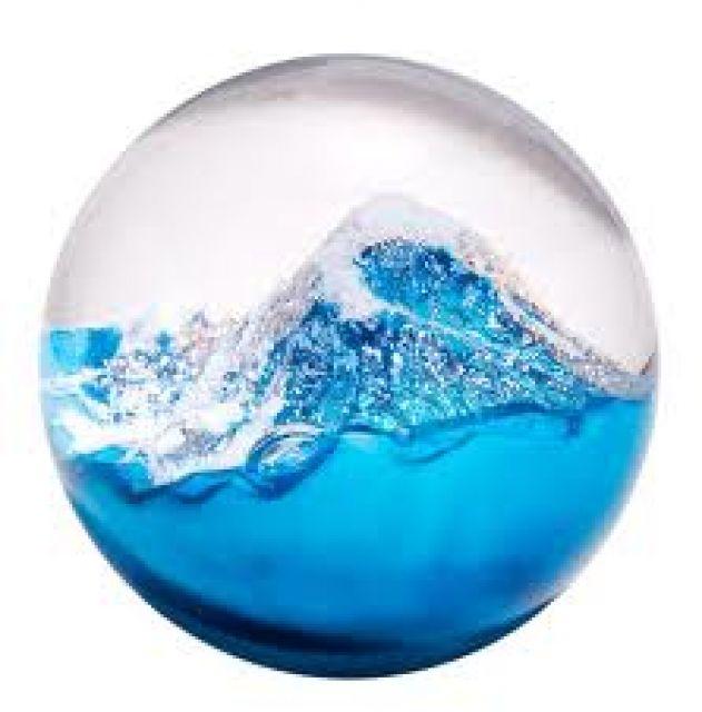 glass eye studio paperweight glacier 3 diameter pacific northwest shop - Glass Eye Studio