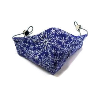 Glitter Snowflake Adjustable Pocket Mask