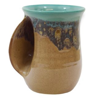 Handwarmer Mug - Island Oasis - Left Handed - 5'' height