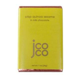 Jcoco Chocolate's Crisp Quinoa Sesame Mini Bar - 1oz