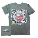 Live To Fish T-Shirt - By Ray Troll - XX-Large