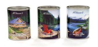 McSteven's Great Outdoors Coffee Mixes - Vanilla Nut, Chocolate, Hazelnut - set of 3 tins - 6.75 oz
