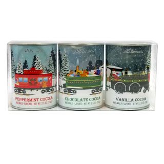 McSteven's Holiday Train Hot Cocoa Gift Set - set of 3 tins - 7.5 oz