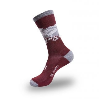 Medium Merino Wool Blend Olympic Mountains Socks
