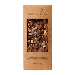 Moonstruck Pecan & Ginger Dark Chocolate Bar - 3.1 oz