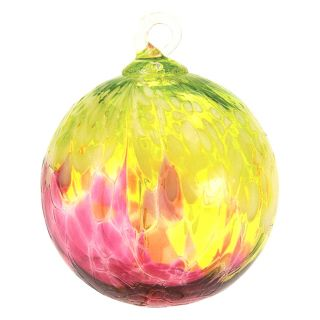 Mt. St. Helens Volcanic Ash Hand Blown Art Glass Ornament - Bellina - 3'' diameter