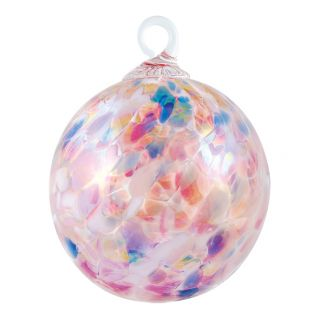 Mt. St. Helens Volcanic Ash Hand Blown Art Glass Ornament - Cherry Blossom - 3