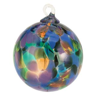 Mt. St. Helens Volcanic Ash Hand Blown Art Glass Ornament - Purple Mystique - 3'' diameter