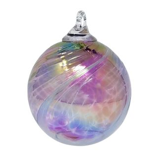 Mt. St. Helens Volcanic Ash Hand Blown Art Glass Ornament - Salish Spray - 3'' diameter
