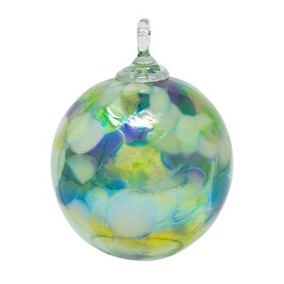Mt. St. Helens Volcanic Ash Hand Blown Art Glass Ornament - Spring Mum - 3'' diameter