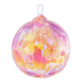 Mt. St. Helens Volcanic Ash Hand Blown Art Glass Ornament - Sunset Beauty Orchid - 3