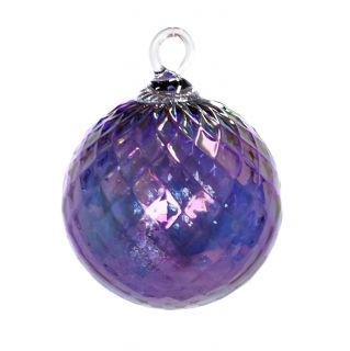 Mt. St. Helens Volcanic Ash Hand Blown Art Glass Ornament - Syrah Amethyst Diamond - 3