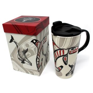 Native American - 17oz  Ceramic Mug - Whale