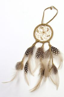 Native American Dream Catcher - Light Brown - 2.5