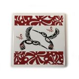 Native American - Hummingbird Design Trivet (maroon)