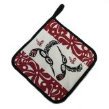 Native American - Hummingbird Pot Holder (maroon)