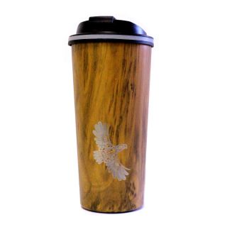 Native American Travel Mug - Eagle's First Flight (16 oz)