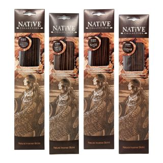 Native Collection Hand-Dipped Natural Incense - One of Each Scent - 80 sticks