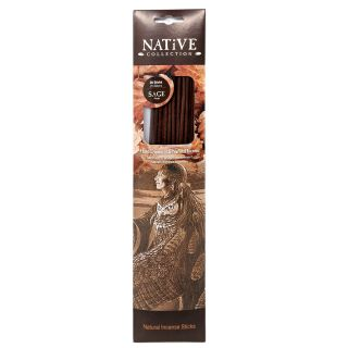 Native Collection Hand-Dipped Natural Incense - Sage - 20 sticks