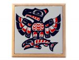 Pacific Northwest Coast Native American Ceramic Tile Eagle Trivet - 7