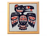 Pacific Northwest Coast Native American Ceramic Tile Raven Trivet - 7