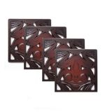 Pacific Northwest Coast Native American Frog Coasters - Best Price: 4 Coasters