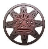 Pacific Northwest Coast Native American Sun Trivet - 7