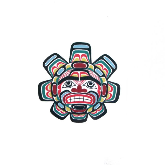 Pacific Northwest Native American Temporary Tattoo Sun Pacific