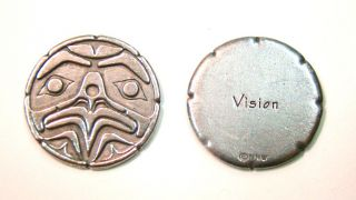 Pocket Spirit - Eagle Front (VISION) - by Darrel Amos, Haida