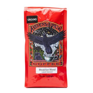 Raven's Brew - Breakfast Blend Light Roast Coffee - 12oz Ground
