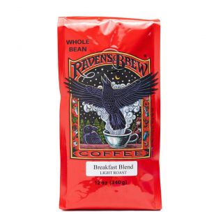 Raven's Brew - Breakfast Blend Light Roast Coffee - 12oz Whole Bean