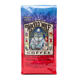 Raven's Brew - Wicked Wolf Dark Roast Coffee - 12oz Whole Bean