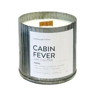 Rustic Wooden Wick 100% Soy Wax Candle - Cabin Fever
