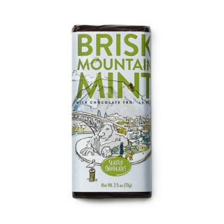Seattle Chocolates - Brisk Mountain Mint Truffle Bar - 2.5 oz
