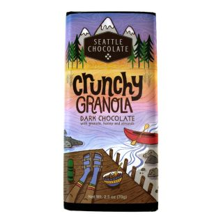 Seattle Chocolates - Crunchy Granola Dark Truffle Bar - 2.5 oz