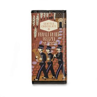 Seattle Chocolates - Peanut Butter Pretzel Truffle Bar - 2.5 oz